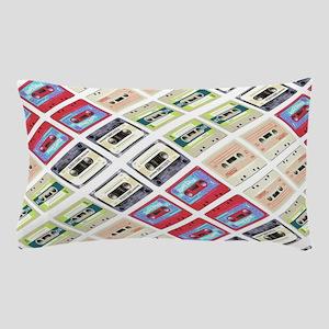 retro cassette tape funky pattern Pillow Case