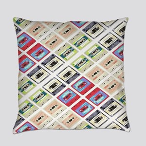 retro cassette tape funky pattern Everyday Pillow