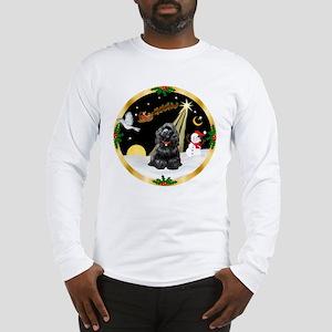 Night Flight/Cocker Spaniel (black) Long Sleeve T-