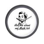 Ask Me About My Math Lab Wall Clock