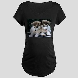 The Huskies Maternity Dark T-Shirt