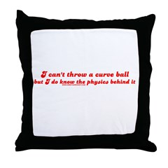 Curve Ball Throw Pillow