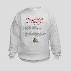 Last Words Kids Sweatshirt