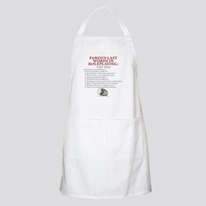 Last Words BBQ Apron