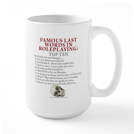 Last Words Large Mug