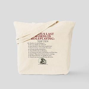 Last Words Tote Bag