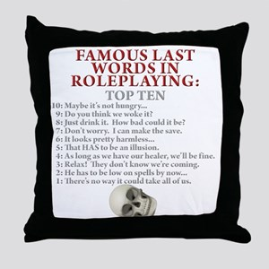 Last Words Throw Pillow