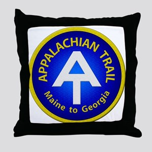 Appalachian Trail Patch Throw Pillow
