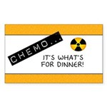 Chemo...It's What's for Dinner Rectangle Sticker