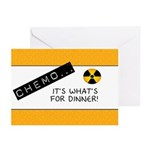 Chemo...It's What's for Dinner Greeting Cards (Pk