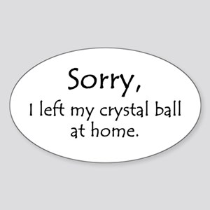 Crystal Ball Oval Sticker