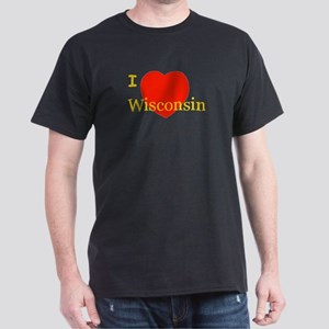 I Love Wisconsin! Dark T-Shirt