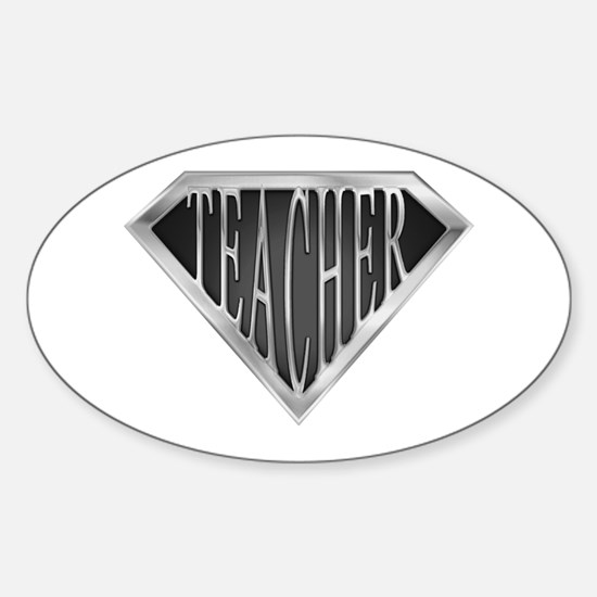 SuperTeacher(metal) Oval Decal