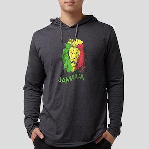 Jamaica Rasta Lion Long Sleeve T-Shirt