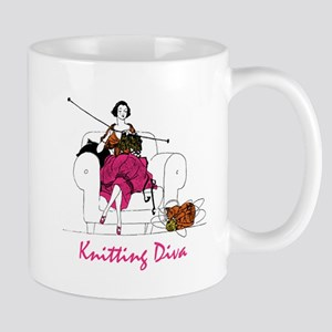 knittingdiva copy Mugs