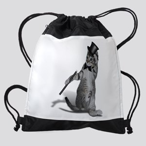 Tap Dancing Cat Drawstring Bag