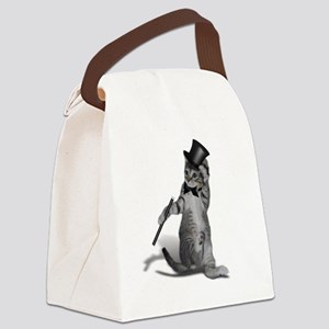 Tap Dancing Cat Canvas Lunch Bag