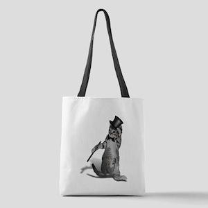 Tap Dancing Cat Polyester Tote Bag