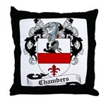 Chambers Family Crest Throw Pillow