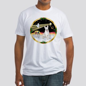 XmasDove/Bull Terrier Fitted T-Shirt