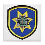 Redwood City Police Tile Coaster