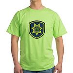 Redwood City Police Green T-Shirt