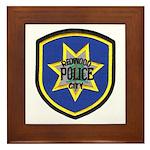 Redwood City Police Framed Tile