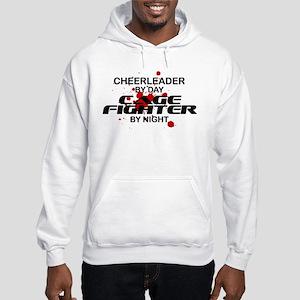 Cheerleader Cage Fighter by Night Hooded Sweatshir