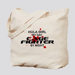 Hula Girl Cage Fighter by Night Tote Bag