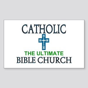 Catholic Bible Church Rectangle Sticker