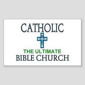 Catholic Bible Church Rectangle Sticker