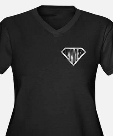 SuperLawyer(metal) Women's Plus Size V-Neck Dark T