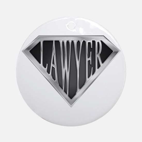 SuperLawyer(metal) Ornament (Round)
