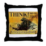 Cross Crossings Cautiously ! Throw Pillow