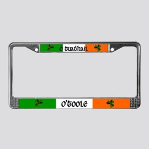 O'Toole in Irish & English License Plate Frame