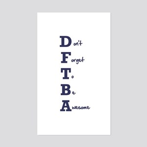 DFTBA - Rectangle Sticker