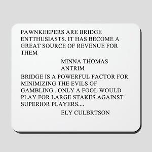 bridge game Mousepad