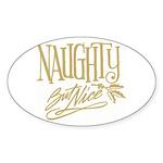 Naughty But Nice Oval Sticker (10 pk)