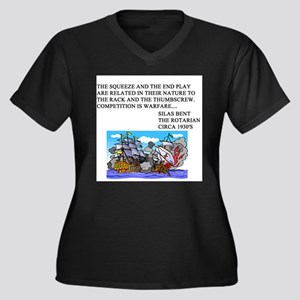 bridge game Women's Plus Size V-Neck Dark T-Shirt