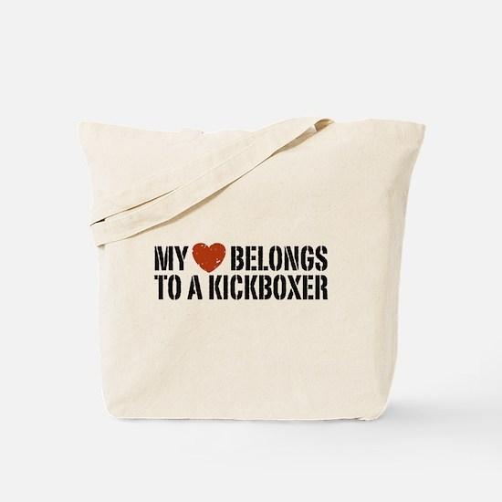 My Heart Belongs to a Kickboxer Tote Bag