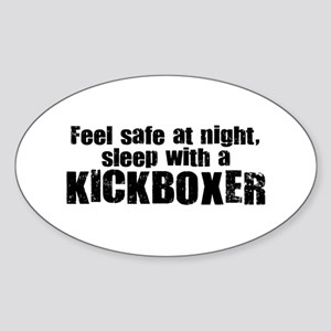 Feel Safe with a Kickboxer Oval Sticker