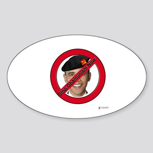 Stop Obamunism Now Oval Sticker