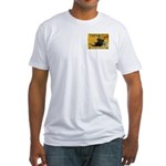 Cross Crossings Cautiously ! Fitted T-Shirt
