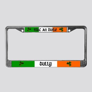 Tully in Irish & English License Plate Frame