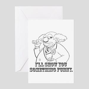 bobo-Ha-Ha funny?-black Greeting Card