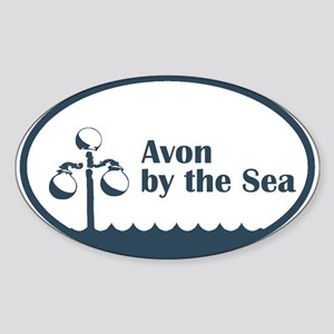 Avon by the Sea Oval Sticker
