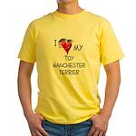Toy Manchester Terrier Yellow T-Shirt