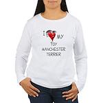 Toy Manchester Terrier Women's Long Sleeve T-Shirt