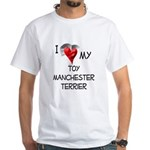 Toy Manchester Terrier White T-Shirt