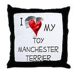 Toy Manchester Terrier Throw Pillow
